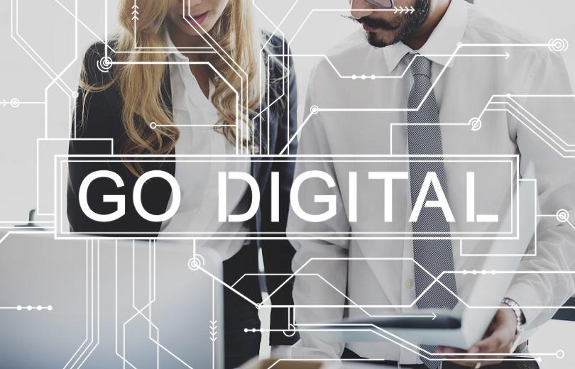 Go Digital Online Technology Electronics Mother Board Concept
